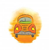 pic of beetle car  - cartoon beetle car - JPG