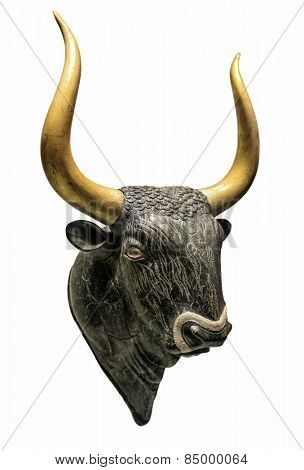 Head of Minoan Bull - a sacred animal of ancient cretan people