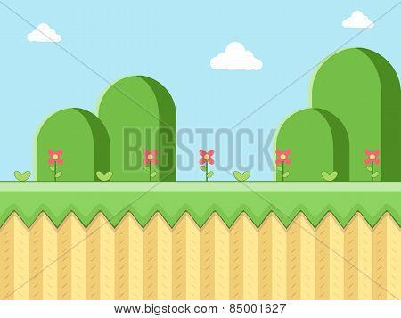 Cartoon style Landscape