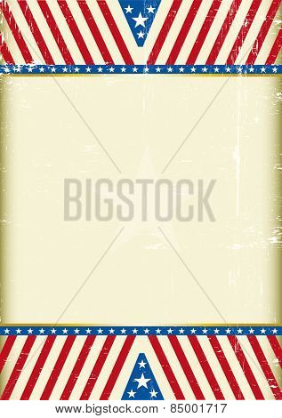 USA design B. A grunge american background with a large empty space for your message