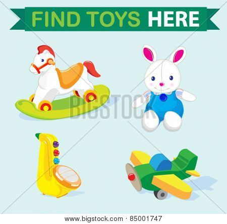 set of cute toys