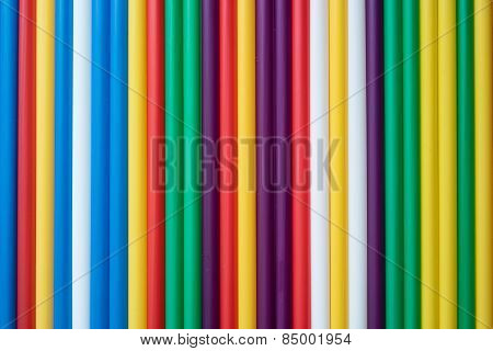 Colored Tubules For A Cocktail
