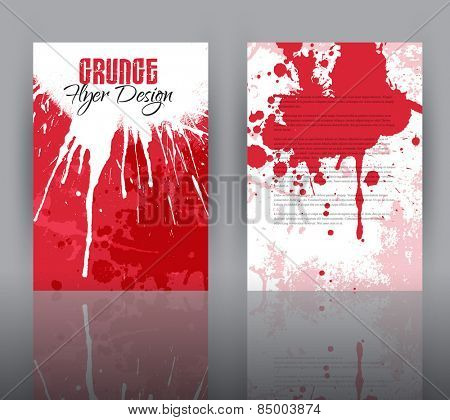 Double sided flyer template with a grunge design