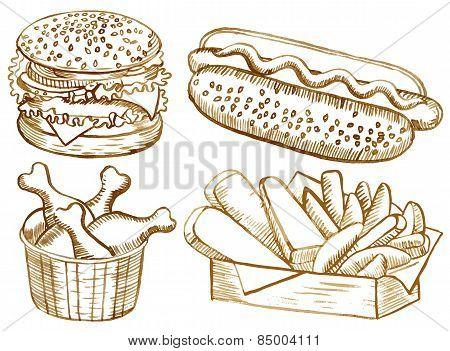 American food set
