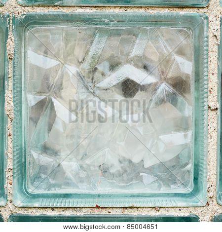 Glass brick fragment