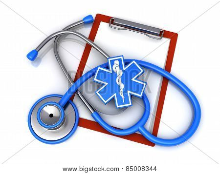 Stethoscope And Paper Clip