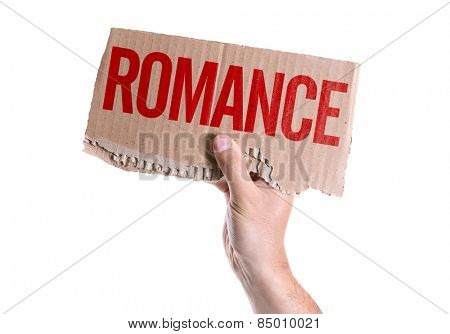 Romance card isolated on white background