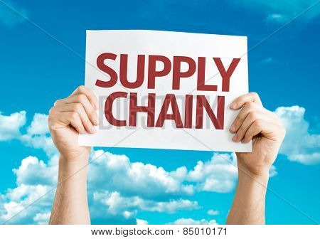 Supply Chain card with sky background