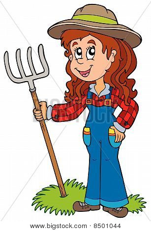 Cute farm girl