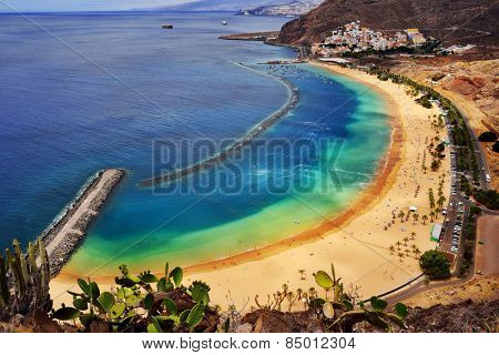 View of Las Teresitas Beach, Tenerife Island, Spain