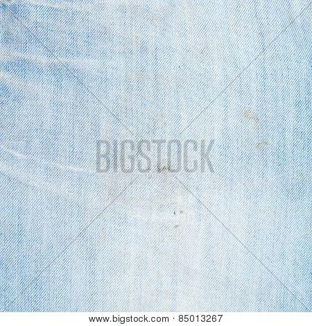 Jeans denim cloth fragment