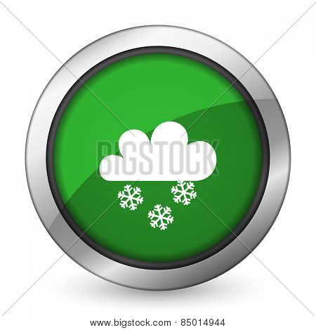 snowing green icon waether forecast sign