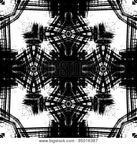 art sketched naive ornamental black pattern isolated on white background, s.6