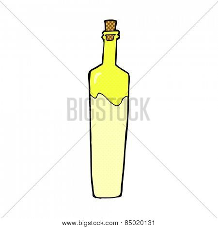 retro comic book style cartoon posh bottle