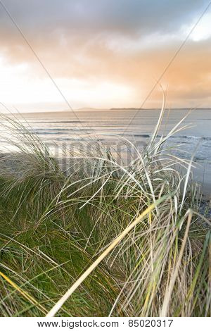 Warm Sunset View From The Sand Dunes Of Beal