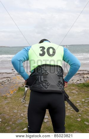 Wild Atlantic Way Windsurfer Getting Suit Ready