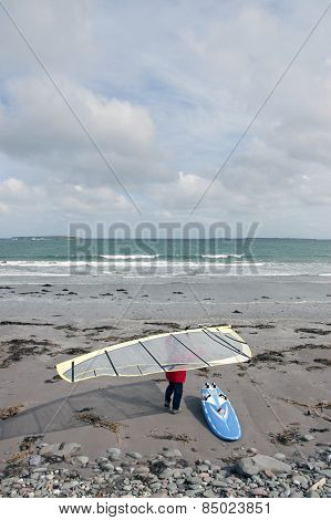 Wild Atlantic Way Windsurfer Getting Ready