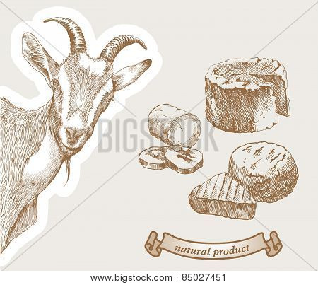 Goat and natural milk products