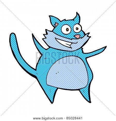 funny retro comic book style cartoon cat