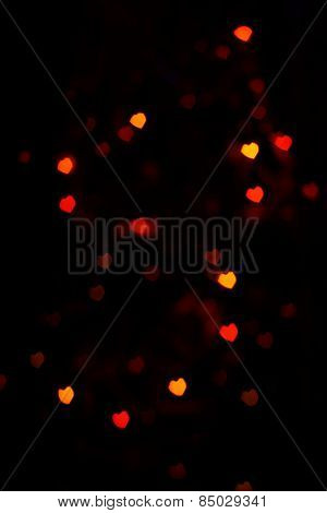 Red Orange Heartshaped Bokeh