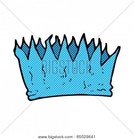 retro comic book style cartoon paper crown