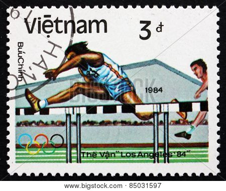 Postage Stamp Vietnam 1983 Hurdles