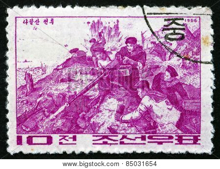 Postage Stamp North Korea 1966 Battle Of Naphalsan