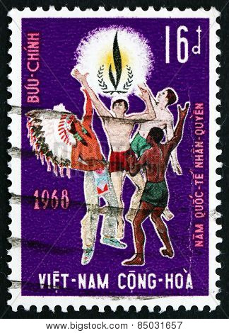 Postage Stamp Vietnam 1968 Men Of Various Races