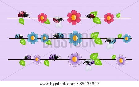 Ladybugs On Wire