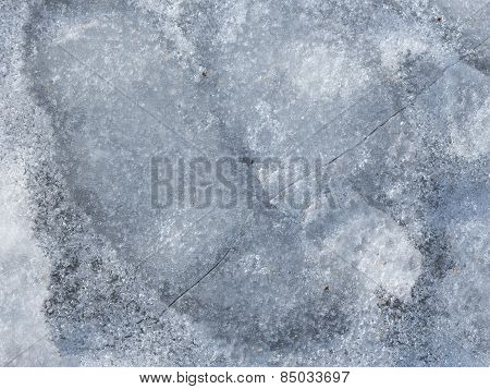 Brittle Gray Spring Ice