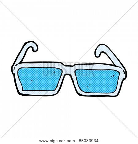 retro comic book style cartoon spectacles