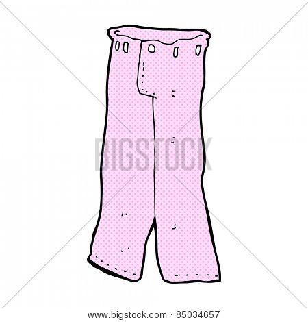 retro comic book style cartoon pair of pink pants