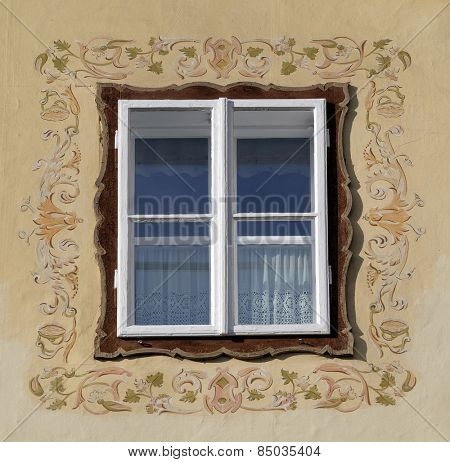 HALLSTATT, AUSTRIA - DECEMBER 13: Window on the house in Hallstatt on December 13, 2014.