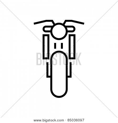 Motorcycle icon outline