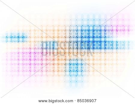 Colorful hi-tech background with circles. Vector design eps10