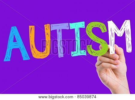 Autism written on the wipe board
