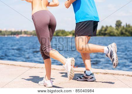 Jogging Together.