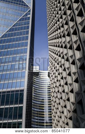 Detail Of Modern Buildings In Paris. Business Concept