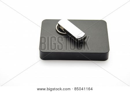 Black External Hard Drive Disk with Saving Stick