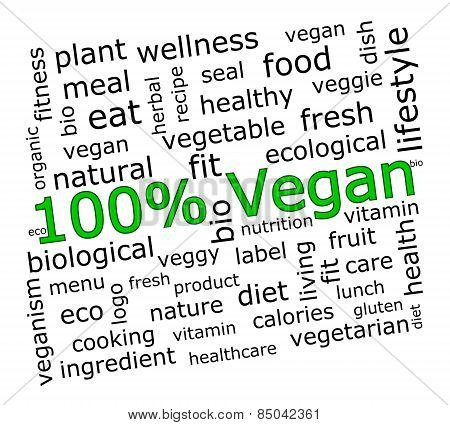 100% vegan wordcloud