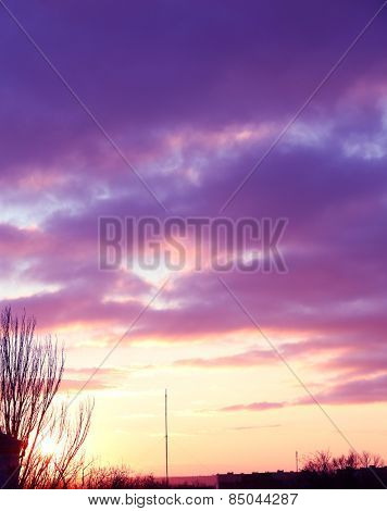 Beautiful view of sunset sky