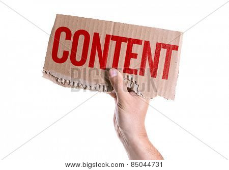 Content card isolated on white background