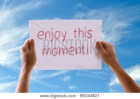 Enjoy this Moment card with sky background