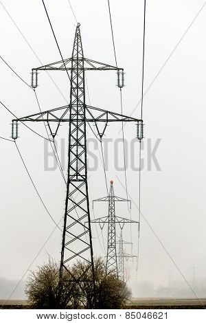 a power line poles for electricity. power line for energy.