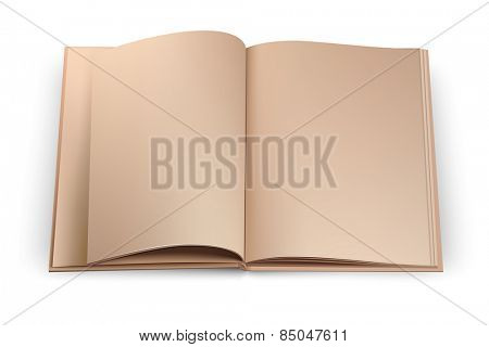 Open sketchbook isolated on white background. Vector