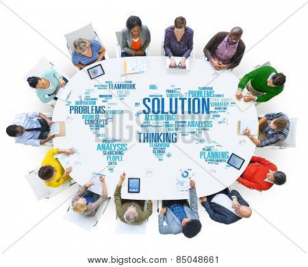 Solution Solve Problem Strategy Vision Decision Concept