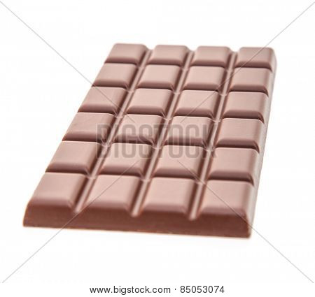 Fine block of chocolate. All on white background