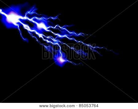 abstract lightning and light effects on a dark background