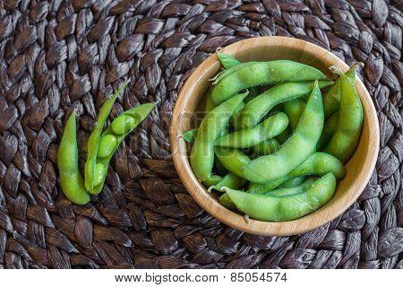 Japanese green soy bean.