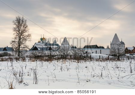 Pokrovskiy monastery in Suzdal.The Golden Ring of Russia